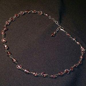 Jewelry - Wire Wrapped Pretty Purple Bead Choker Necklace